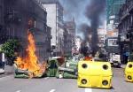 naval, huelga, conflictividad laboral, contenedores quemados, vigo